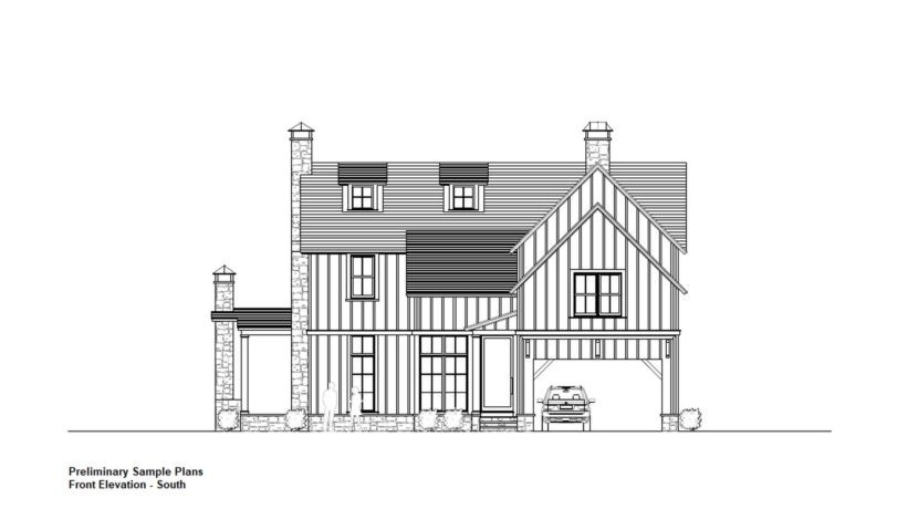 Front Elevation - Preliminary Plans
